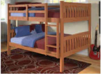 Full Bunk Bed In Cinnamon Finish 1015-3CN F-F