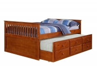103FE Full Mission Captains Trundle Bed  Espresso