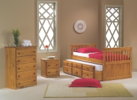 103TH Twin Mission Captains Trundle Bed