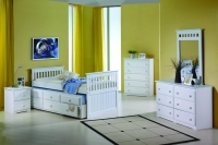 103TW Twin Mission Captains Trundle Bed