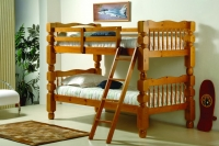 Twin Jumbo Turned Post Bunkbed 1110-2H