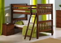 Twin Mission Bunkbed In Espresso Finish 120E