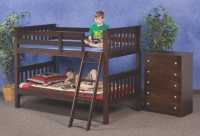 Twin Mission Bunkbed  In Cappuccino Finish 120CP