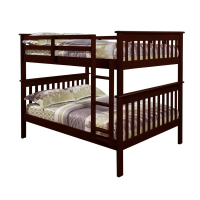 Full Over Full Mission Bunkbed  Espresso Finish 123-3CP