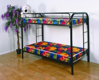 4501-3BK- Twin/ Twin Metal Bunkbed  Gloss Black Finish