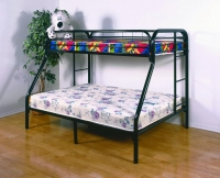 4502-3BK- Twin/ Full Metal Bunkbed  Gloss Black Finish