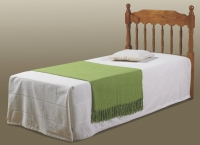Twin Large Spindle Headboard  Honey Finish 702TH