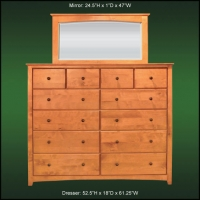 Alder Ridge 12 Drawer And Lanscape Mirror