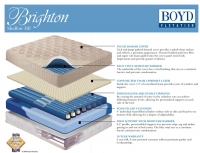 Boyd 143 Brighton Plush Top Softside Waterbed