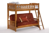 Cinnamon Futon Bunk Bed By Night and Day