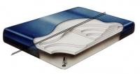 Fiber 3500 Dual Bladders Hard Side Waterbed Mattress