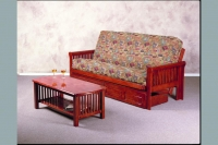 Juliana Full or Queen Futon Frame Dark Cherry Finish