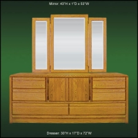 La Jolla Master Dresser & Tri-View Mirror