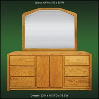 Marathon Large Dresser And Landscape Mirror