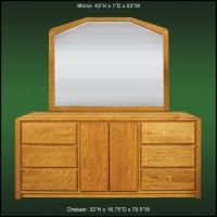 Marathon Large Dresser And Landscape Mirror