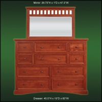 Millennium 10 Drawer Dresser And Landscape Mirror
