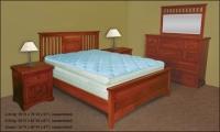 Millennium Slot Panel Bed