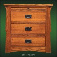 Mission Creek 3 Drawer Nightstand with Tray