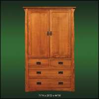 Mission Creek 4 Drawer TV Armoire