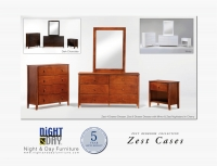 Zest 6 Drawer Dresser & Mirror