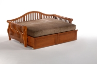 Night and Day Nightfall Wood Daybed