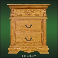 Renaissance 3 Drawer Nightstand