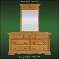 Renaissance 7 Drawer Dresser And Landscape Mirror