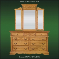 Renaissance 9 Drawer Dresser And Tri-Fold Wing Mirror