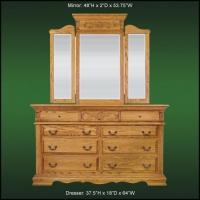 Renaissance 9 Drawer Dresser And Tri-Fold Wing Mirror