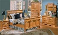 Renaissance Panel Bed Honey Oak