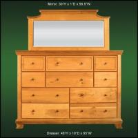 Walnuthill 10 Dr. Dresser & Beveled Mirror