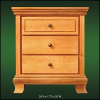 Walnuthill 3 Drawer Nightstand