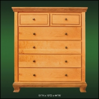 Walnuthill 6 Drawer High Chest