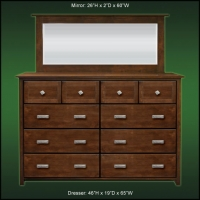 Woodbridge 10 Drawer Dresser And Beveled Mirror
