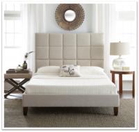 Boyd Arianna Beige Textured Upholstered Platform Bed
