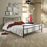 Boyd Cora Black Textured Finish Metal Platform Bed