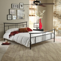 Boyd Cora Black Textured Finish Metal Platform Bed