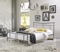 Boyd Cora Nickle Silver Textured Finish Metal Platform Bed