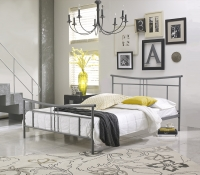 Boyd Cora Nickle Silver Textured Finish Metal Platform Bed