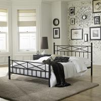 Boyd Emma Textured Black  Metal Finish Platform Bed