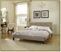 Boyd Savannah Contemporary Beige Textured Linen Platform Bed