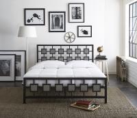 Boyd Skylar Two Tone Hammered Finish Metal Platform Bed