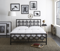 Boyd Skylar Two Tone Hammered Finish Metal Platform Bed