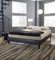 Boyd Suburban Black Simulated Leather Platform Deck Bed