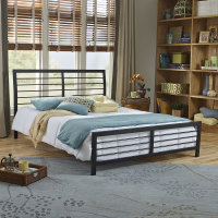 Boyd Tiffany Accented Bars Metal Platform Bed