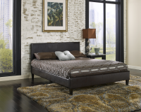 Cosmopolitan Platform Bed Brown