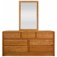 La Jolla 7 Drawer Dresser And Landscape Mirror