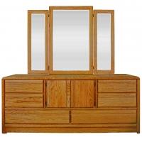 La Jolla Master Dresser And Tri-View Mirror