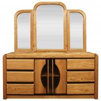 Matrix 6 Drawer Dresser And Tri-Fold Mirror