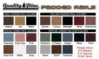 Quality Pine Padded Rail Colors